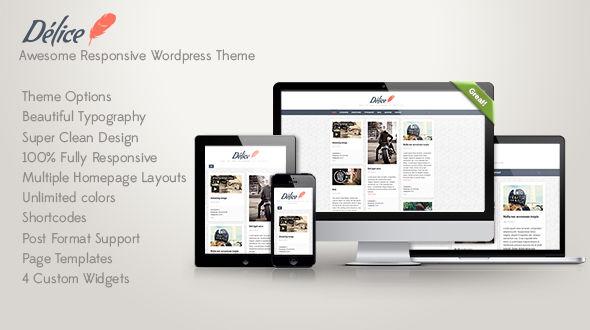 Delice – Clean Responsive WordPress Theme