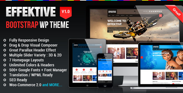 EFFEKTIVE – Bootstrap MultiPurpose WordPress Theme