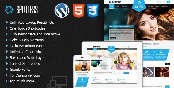 Spotless – Multi Purpose HTML5 WordPress Theme