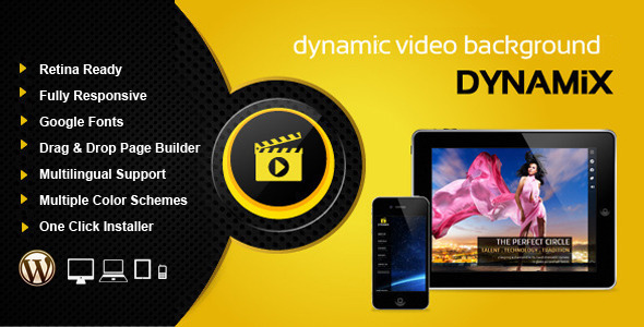Dynamix Retina Full Screen Background WP Theme
