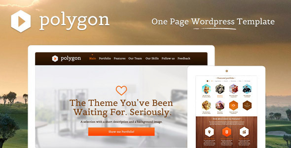 Polygon – One Page WordPress Portfolio Template