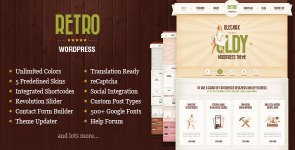 Retro – Premium Vintage WordPress Theme