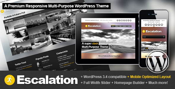 Escalation Responsive Allround WordPress Theme