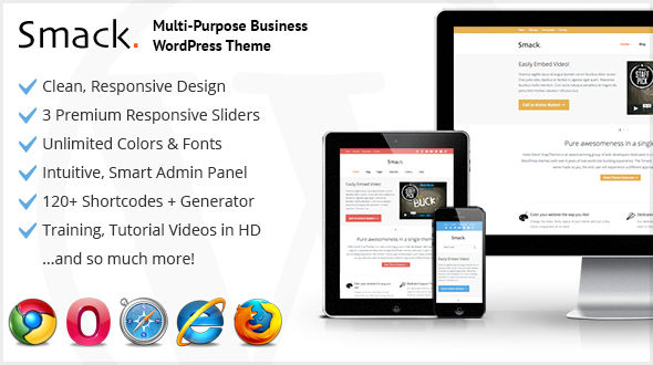 Smack. Responsive Multi-Purpose WordPress Theme