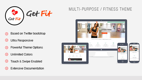 GetFit – Gym Fitness Multipurpose WordPress Theme