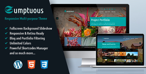 Sumptuous Responsive Multi-purpose Theme
