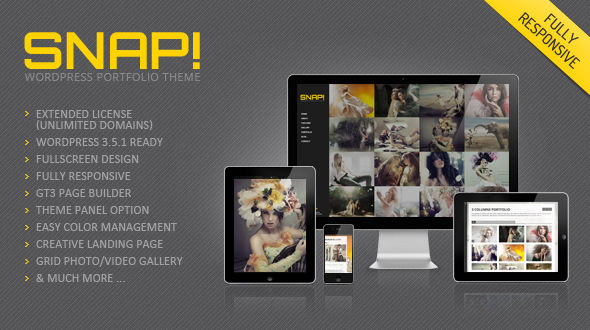 Snap Photography Responsive WordPress Theme