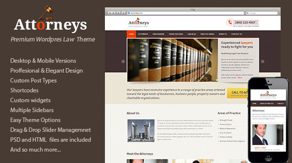 Attorneys – Lawyer WordPress Theme