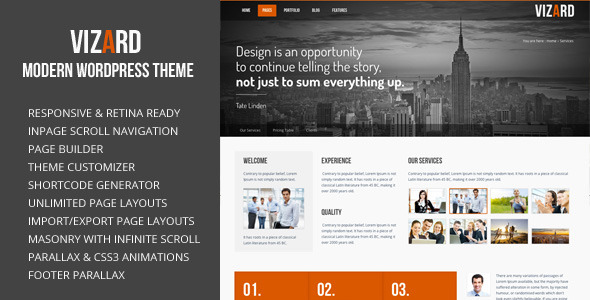 Vizard Modern WordPress Theme