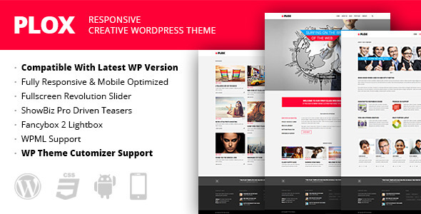 Plox Creative Responsive WordPress Theme