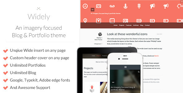 Widely – An imagery focused Blog & Portfolio theme