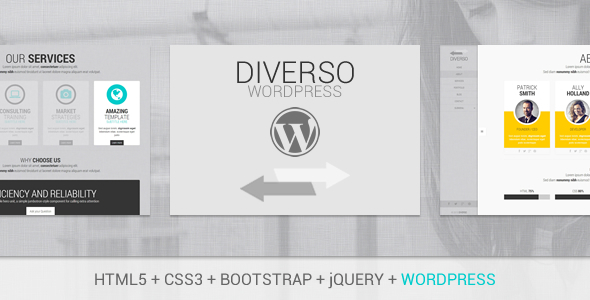 Diverso – Bootstrap WordPress Sliding Pages