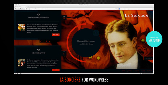 La Sorcière–Dark WordPress Theme