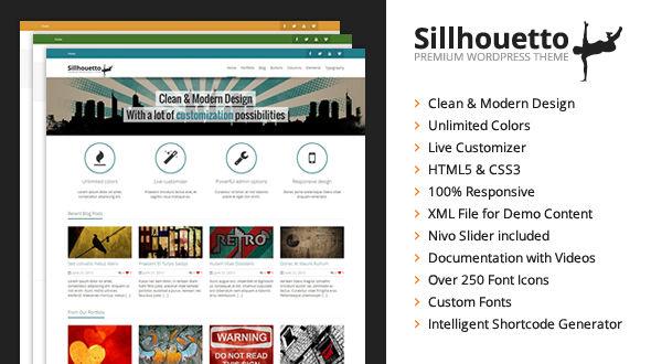 Sillhouetto – Clean & Powerful WordPress Theme