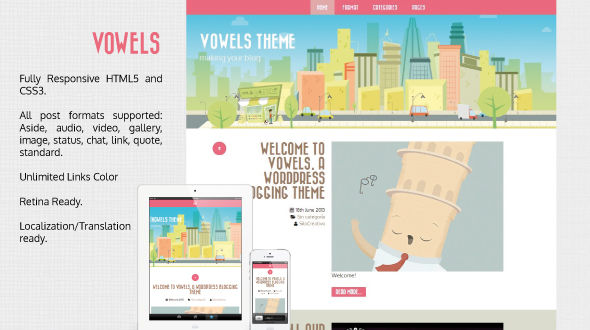 Vowels – Responsive Retina WordPress Theme