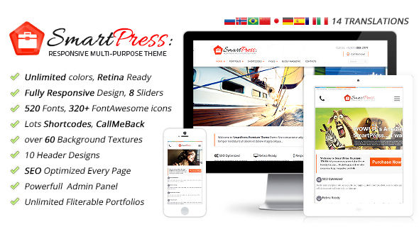 SmartPress Responsive Multi-Purpose WordPress Theme