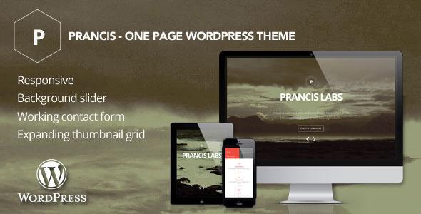 Prancis – One page WordPress theme