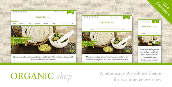 Organic Shop – Responsive WooCommerce Theme