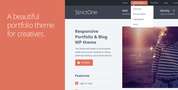 StrictOne: Responsive Portfolio & Blog WordPress Theme