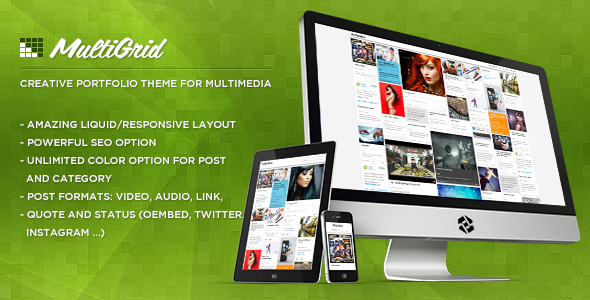 MultiGrid – Creative Portfolio, Multimedia Theme