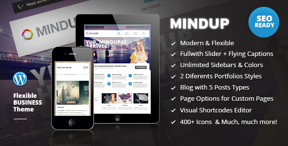MindUp – A Flexible Corporate WordPress Theme