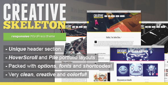 Creative Skeleton – responsive WordPress theme