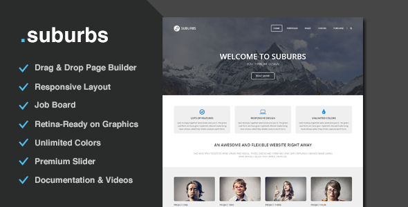 Suburbs – Multi-Purpose Responsive theme