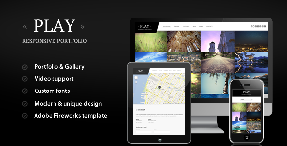 Play – Responsive Portfolio for WordPress