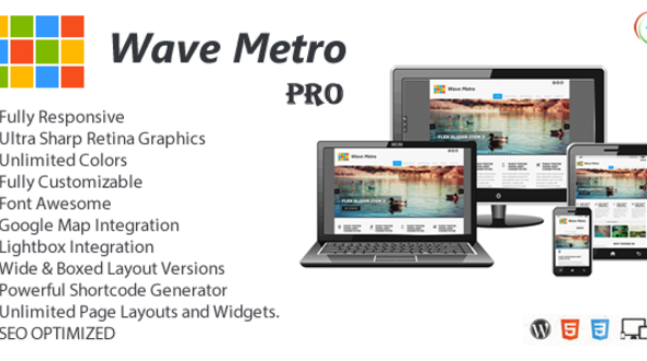 WaveMetroPro – Responsive Multi-Purpose Theme