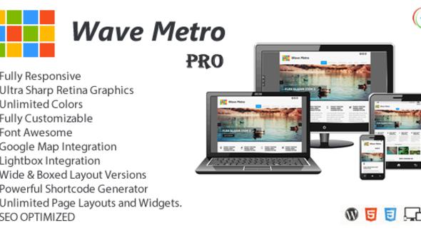 WaveMetroPro – Responsive Multi-Purpose Theme