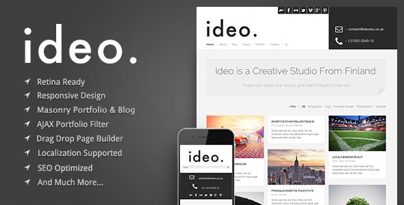 ideo – Minimalistic WordPress Portfolio Theme