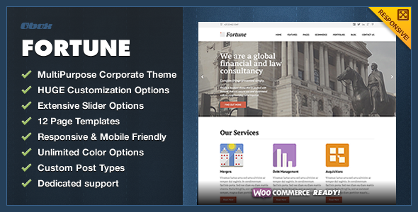 Fortune – Multipurpose Corporate WordPress Theme