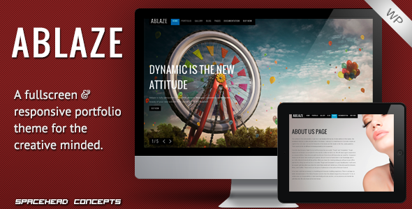 Ablaze – Responsive Fullscreen WordPress Theme