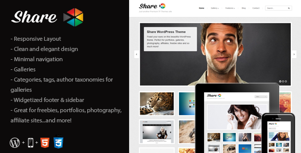 Share – Gallery, Photos, Freebies WordPress Theme