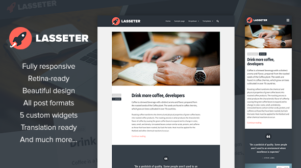 Lasseter WordPress theme