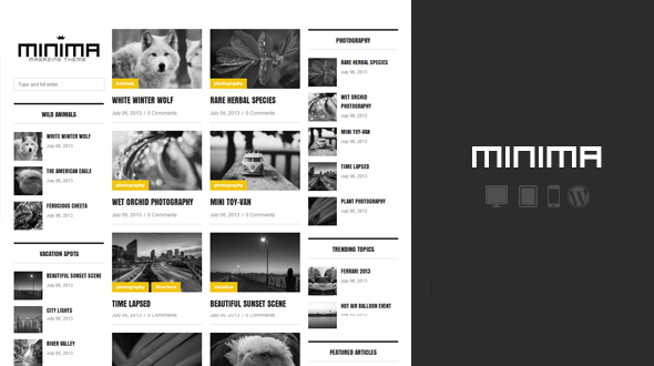 Minima Minimalist WordPress Magazine Theme