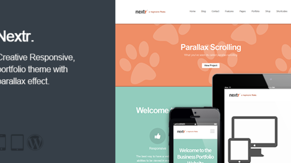 Nextr – Responsive Multi-Purpose WordPress Theme