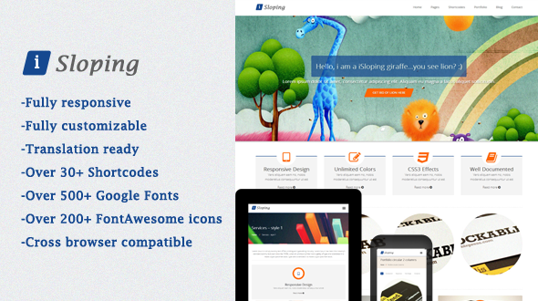 iSloping – Responsive Multipurpose Theme