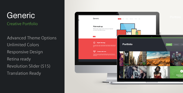 Generic – Unique Flat WordPress Theme
