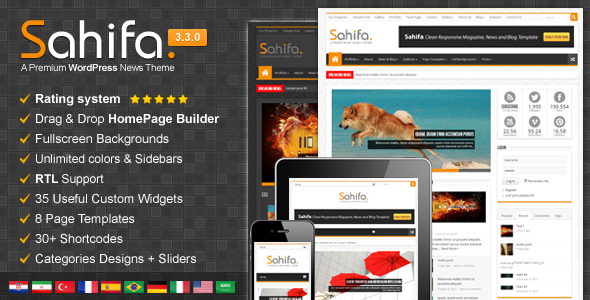 Sahifa – Responsive WordPress News,Magazine,Blog