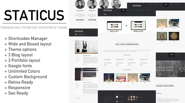 Staticus – Premium Multipurpose WordPress Theme