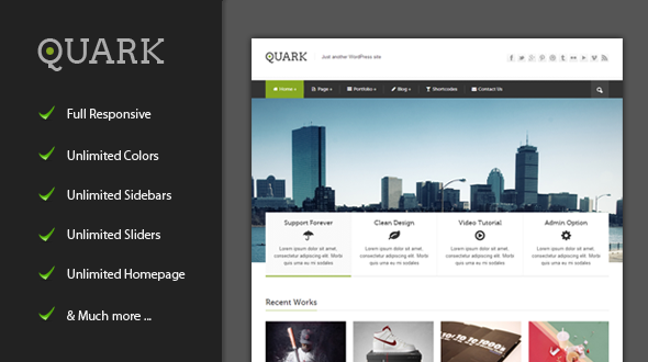 Quark – Responsive WordPress Theme