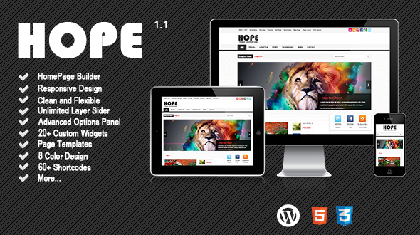 Hope News/Magazine WordPress Theme