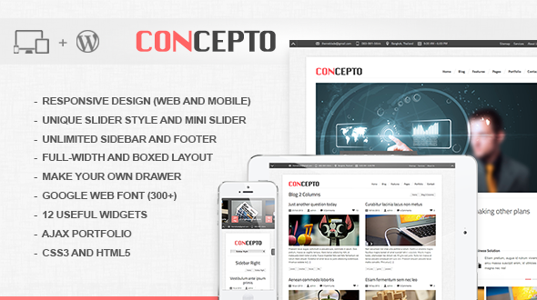 Concepto – Resposive Clean Worpress Theme