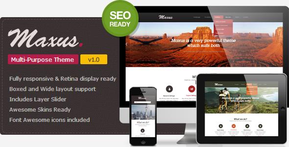 Maxus- A Simple & Clean WordPress Theme