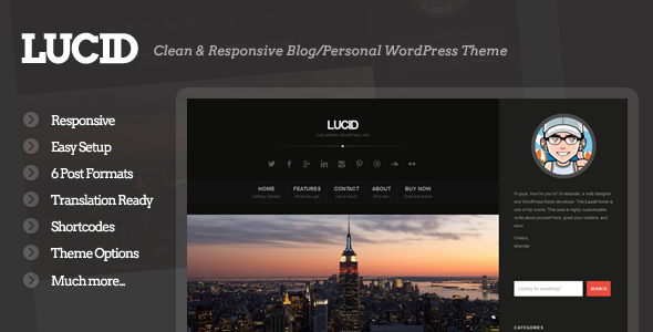Lucid – Clean Personal/Blogging Theme