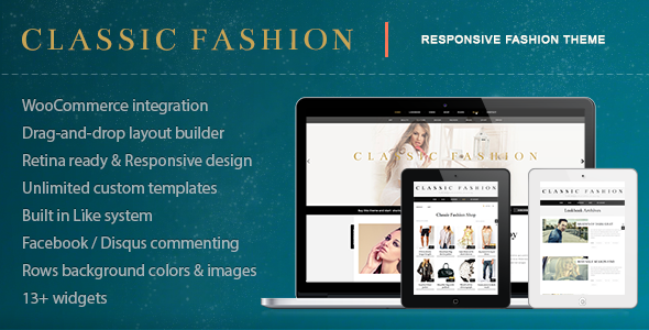 Classic Fashion – Stylish Fashion Shop Theme