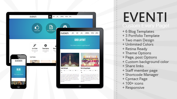 Eventi – Responsive WordPress Theme