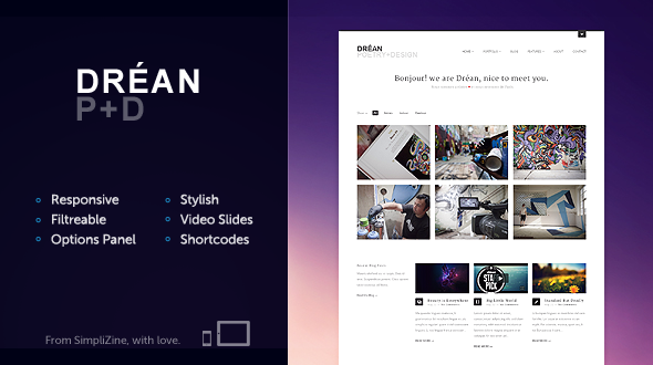 Dréan Responsive WordPress Portfolio