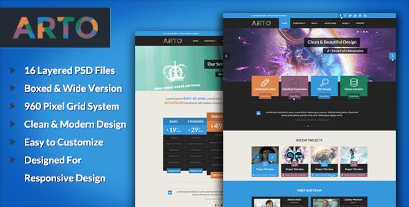 Arto – A Flat & Responsive Multipurpose Theme